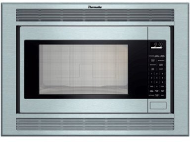 Thermador : MBES 2.1 cu. ft. Built-in Microwave Oven – Stainless Steel  ->  Note :  Pictured with Trim Kit. (Sold separately)
