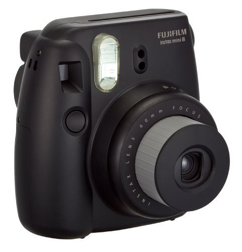 fujifilm instax mini 8 instant film camera black my canon digital camera. Black Bedroom Furniture Sets. Home Design Ideas