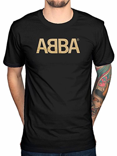 Official Abba Gold Logo T-shirt Group Merch