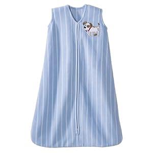 HALO SleepSack Micro Fleece Wearable Blanket, Print Boy, Medium (Discontinued by Manufacturer)