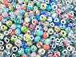 Nambeads � 50 x Mixed Murano glass beads to fit Pandora style charm bracelets.Slide on/off-Hole is 5mm.. Check out our bulk packs of affordable glass beads,charms,clip stops,rhinestones etc. Great mix.