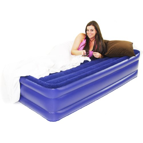 Smart Air Beds Deluxe Flock Top Raised Twin Size Air Bed (Elevated 16