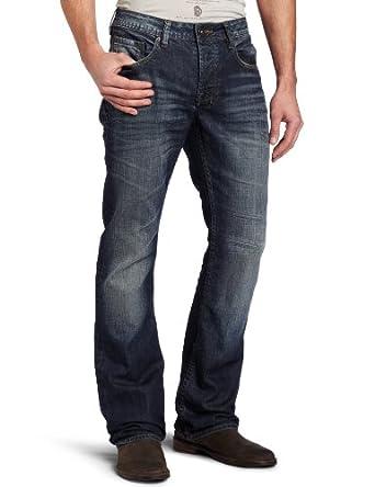 Buffalo David Bitton Men's King Slim Bootcut Jean in Sand/Worked, Sand/Worked, 30x30