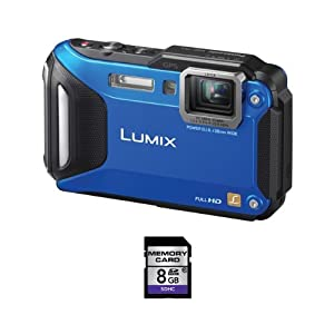 Panasonic Lumix DMC-TS5 16.1 MP Digital Camera + 8GB SDHC Card (Blue)