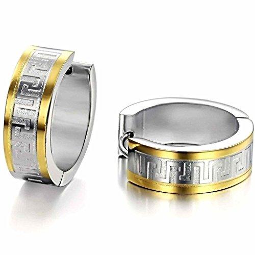 alimab gioielli in acciaio inox Orecchini a perno per lui o Circle Oro