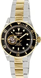 Invicta 20438 Men's Pro Diver Black Dial Two Tone Steel Automatic Dive Watch