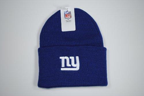 Cheap New York Giants Cuffed Blue Beanie Cap Winter Hat