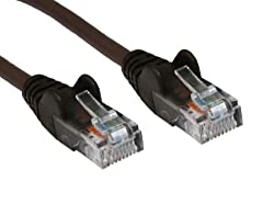 World of Data® 3m BROWN Premium CAT5E (enhanced) Network Cable - Ethernet - LAN - Patch - Internet - Broadband - Router - Hub - Modem -10/100