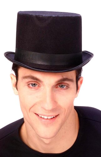 Adult Deluxe Traditional Black Top Hat - Adult Std.