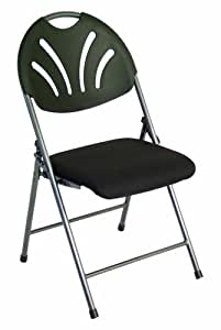 Eqa Home Steel Folding Chair With Black Padded
