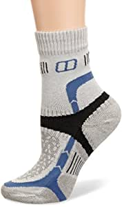 Berghaus Women's Fast Track Cushioned 1/2 Crew Sock - Extreme Silver/Della Robbia Blue/Coal, Small