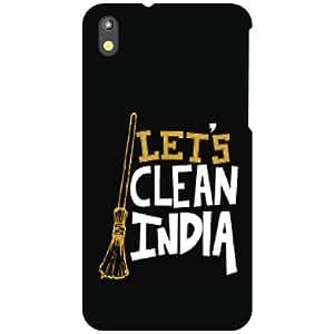 HTC Desire 816 Back Cover - Let's Clean India Designer Cases