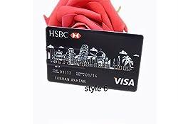 Credit card USB Flash Drive customized Pen drive pendrive personalized as your logo photo design pendrive (32GB, HSBC VISA)