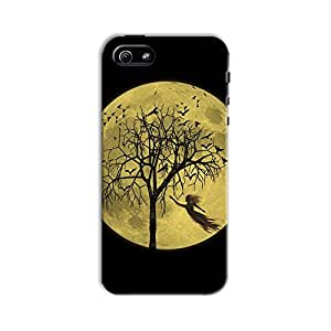 ArtzFolio Moon And Ghost : Apple iPhone 5 / 5S Matte Polycarbonate Original Branded Mobile Cell Phone Designer Hard Shockproof Protective Back Case Cover Protector