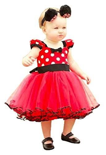 Toddlers Little Girls Short Sleeve TuTu Dress with BowKnot