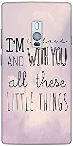 Snoogg All Those Little Things Designer Protective Back Case Cover For One Pl...