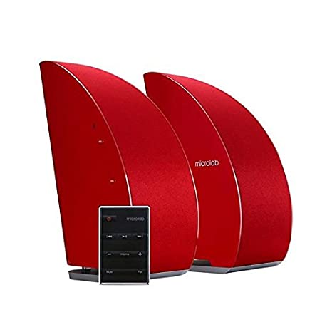 Microlab T8 2.0 Stereo Speakers System with Bluetooth, red