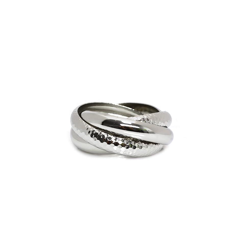 Fashion Bangle Bracelet; Silver Metal Jewelry