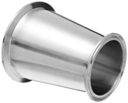 Dixon B3114MP-G600400 Stainless Steel 304 Sanitary Fitting, Clamp Concentric Red Fiberglassucer, 6\