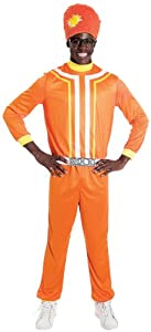 Paper Magic Men's Yo Gabba Gabba Di Lance Costume, Orange, Large