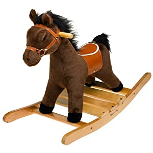 amazoncom melissa u0026amp doug plush rocking horse toys u0026amp games rocking horse 300x300