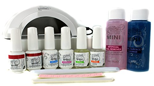 Gelish Mini Gel Soak Off Nail Polish Full Package Kit - Includes 2 Free Colors (Mini Gelish Nail Polish Colors compare prices)