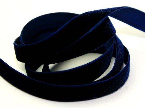 Berisfords Samtband, breit, 7 mm breit, Meterware, Marineblau 9419
