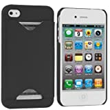 Importer520 Clip-on Case w/ Business Card Holder Compatible With Apple® iPhone® 4 / 4S (AT&T, Verizon, Sprint) (Black)