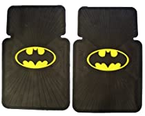 Front Car Truck SUV Rubber Floor Mats - Batman Classic Logo