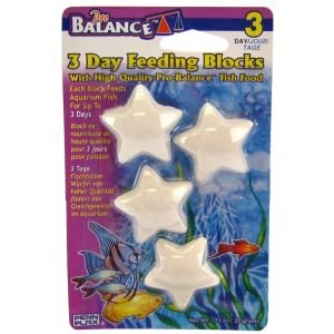 Penn Plax 3-Day Feeding Blocks of Fish Food, 4-Pack