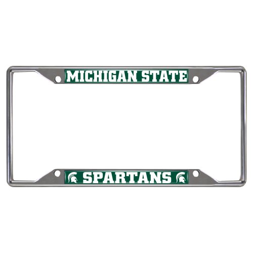 FANMATS NCAA Michigan State University Spartans Chrome License Plate Frame (Farm License Plate Frame compare prices)