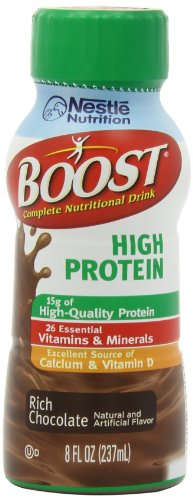 Boost Ready To Drink, High Protein Chocolate, 8 Ounce (Pack Of 24)