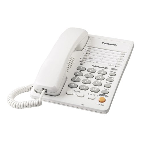 Panasonic Kx-Ts105W Corded Phone, White
