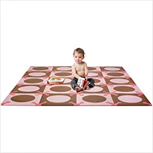 Playspot Foam Tiles in Pink / Brown
