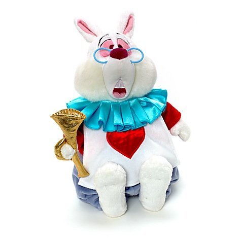 White Rabbit soft toy from Alice in Wonderland. by Disney