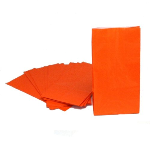 Orange Paper Treat Bags : package of 12 - 1