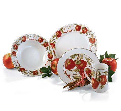 16-Pc. Apple Dinnerware Set - Buy 16-Pc. Apple Dinnerware Set - Purchase 16-Pc. Apple Dinnerware Set (Homevisions, Home & Garden, Categories, Kitchen & Dining, Tableware)