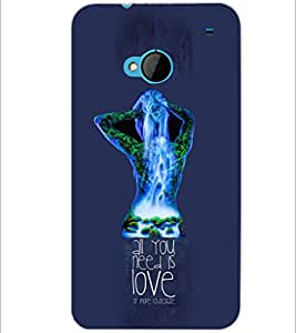 PrintDhaba Quote D-3058 Back Case Cover for HTC ONE M7 (Multi-Coloured)