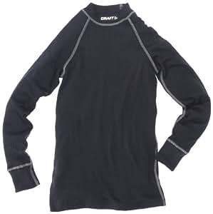 Craft Zero ras de cou manches longues Sous-vêtement mixte enfant Noir 122-128
