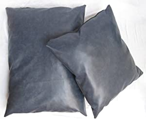 "Faux Leather Pet Dog Cat Bed Bean Bag Cushion Navy Blue 28"" x 36"" by Sold By Hallways"