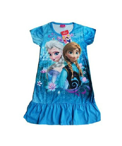 Ana and the snow Queen of Frozen snow Queen Disney children undress one piece toy cosplay costume mall-online (120 cm)