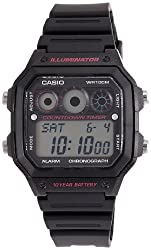 Casio Youth-Digital Digital Multi-Color Dial Mens Watch - AE-1300WH-1A2VDF