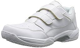 AdTec Men\'s Uniform Athletic Velcro Shoes, White, 7 M US