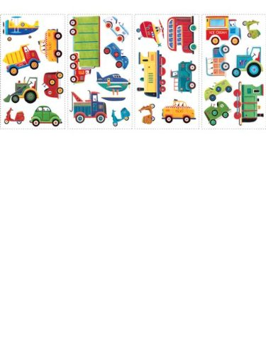 (6X11) Transportation Repositional Wall Decal