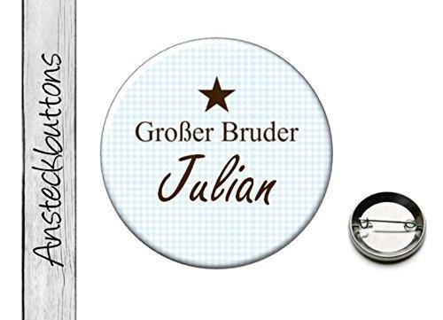 family-button-o-grosser-bruder-o-karo-stern-f21-bunte-ansteckbuttons-vom-papierbuedchen
