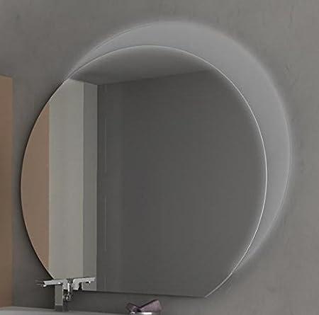 Specchiera Specchio da Bagno con illuminazione a semiluna LED