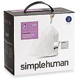 simplehuman - Code J, Custom Fit Bin Liners, 100 Pack - 30-40 Litre