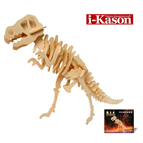 Authentic High Quality i-Kason® New Favorable Imaginative DIY 3D Simulation Model Wooden Puzzle Kit for Children and Adults Artistic Wooden Toys for Children - Tyrannosaurus Rex - 1