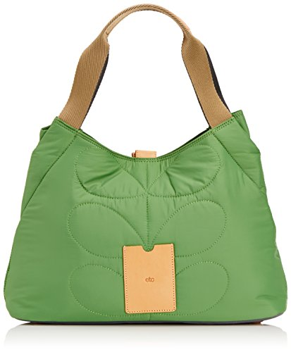 Orla Kiely Stem Quilted Nylon Classic Shoulder Bag,Green,One