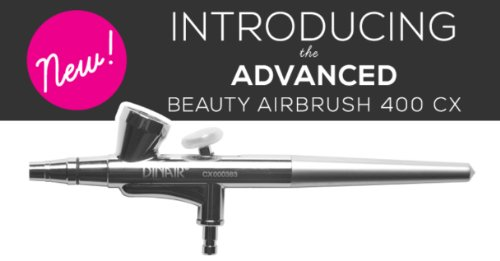 Dinair Airbrush Makeup - The Advanced Beauty Airbrush Gun 400 Cx - Continuous Airflow With Case & Cleaning Caps - New
